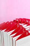 Red Business Card Holder Stock Photography
