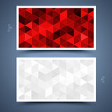 Red business card template. Abstract  background  Stock Photography