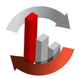 Red Business graph Royalty Free Stock Images