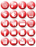 Red business icons Stock Image