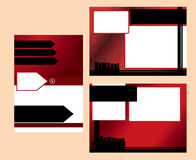 Red business postcard template Stock Photo