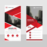 Red Business Roll Up Banner flat design template ,Abstract Geometric banner template Vector illustration set Royalty Free Stock Photos