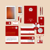 Red business style design. Stock Photo