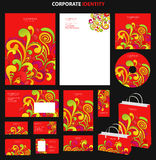 Red business style templates with abstract pattern Royalty Free Stock Image