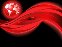 Red business world map Stock Images