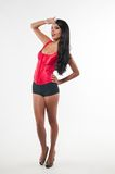 Red bustier Royalty Free Stock Images