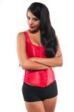 Red bustier Stock Image