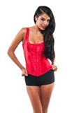 Red bustier Stock Photo