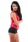 Red bustier Royalty Free Stock Photography