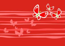 Red butterflies background Stock Image