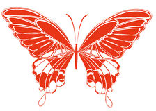 Red butterfly Stock Photos