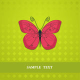 Red butterfly. Stylized red butterfly on a green background Stock Images