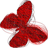 Red Butterfly. Abstract Red Butterfly - vector illustration Royalty Free Stock Photos