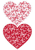 Red butterfly heart, vector Royalty Free Stock Images