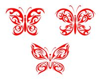 Red butterfly tattoo Stock Photo