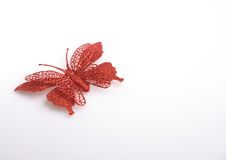Red butterfly. On white background Royalty Free Stock Image