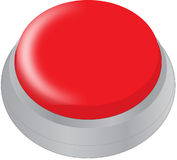 Red button. Generic red button Stock Photos