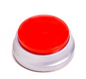 Red Button. A Red button on white stock image