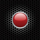 Red Button. Illustration of a red button Stock Photos