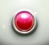 Red button. Vector illustration of shiny red emergency button Stock Image