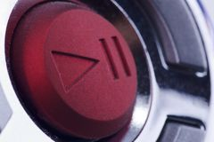 Red button. Big red round start button Royalty Free Stock Photos