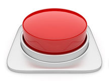 Red button 3d Illustration. Icon isolated Stock Photo