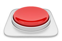 Red button 3d Illustration. Icon isolated Royalty Free Stock Image