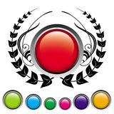 Red button. Vector design element. Easy to edit Royalty Free Stock Images