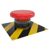 The red button on the base. Isolated render on a white background Royalty Free Stock Photography