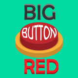 RED BUTTON. BIG RED BUTTON for big man finger Royalty Free Stock Photo