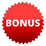 Red button bonus Stock Photos