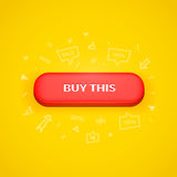 Red button with buy this text Royalty Free Stock Photos