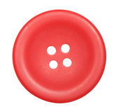 Red button for clothes isolated stock photography