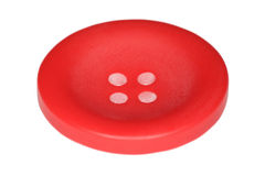 Red button for clothes isolated on white Royalty Free Stock Image