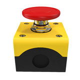 Red button 3d illustration Royalty Free Stock Photo