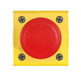 Red button 3d illustration. On white background Stock Images