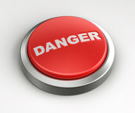 Red button - danger Royalty Free Stock Images