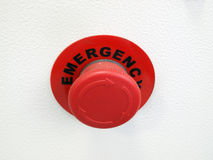 Red button Emergency Royalty Free Stock Photo