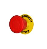 Red button emergency stop Royalty Free Stock Images