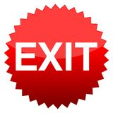 Red button exit Stock Images