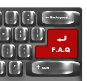 Red button F.A.Q Royalty Free Stock Photo