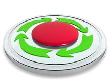 Red button with the green arrows �2 Stock Photography
