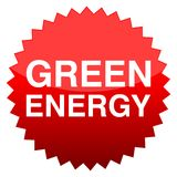 Red button green energy. Vector icon Royalty Free Stock Images