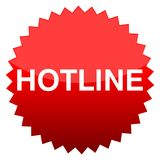 Red button hotline Stock Images
