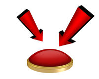 red button isolated Royalty Free Stock Photography