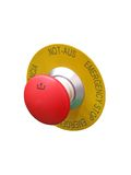 Red button isolated, security concept Royalty Free Stock Photography