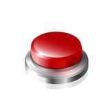 Red button. Large red button on a white background Royalty Free Stock Image