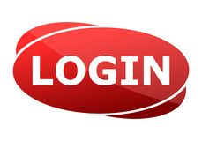 Red button login Stock Images
