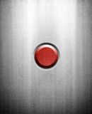 Red button on metal background Stock Photo