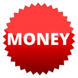 Red button money Stock Photography